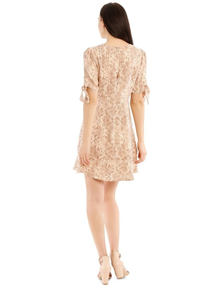 Tie Sleeve Fit And Flare Dress image 3