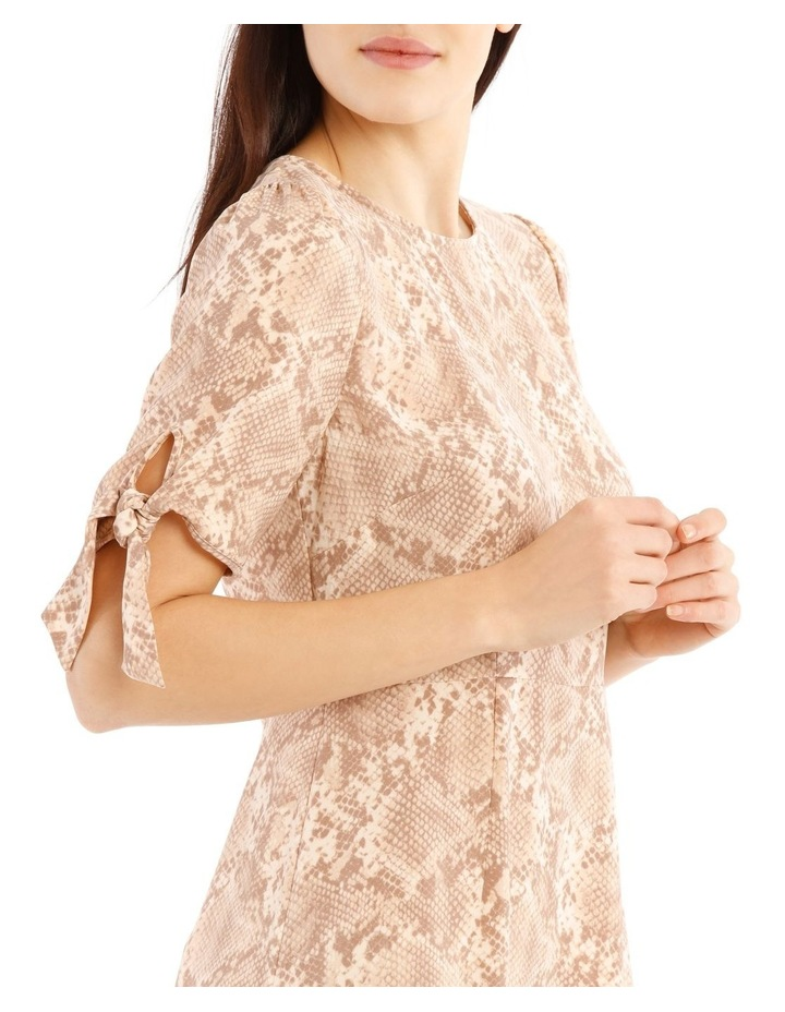 Tie Sleeve Fit And Flare Dress image 4