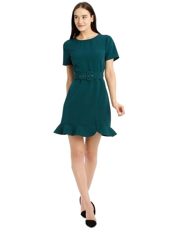 Belted Scuba Dress image 1