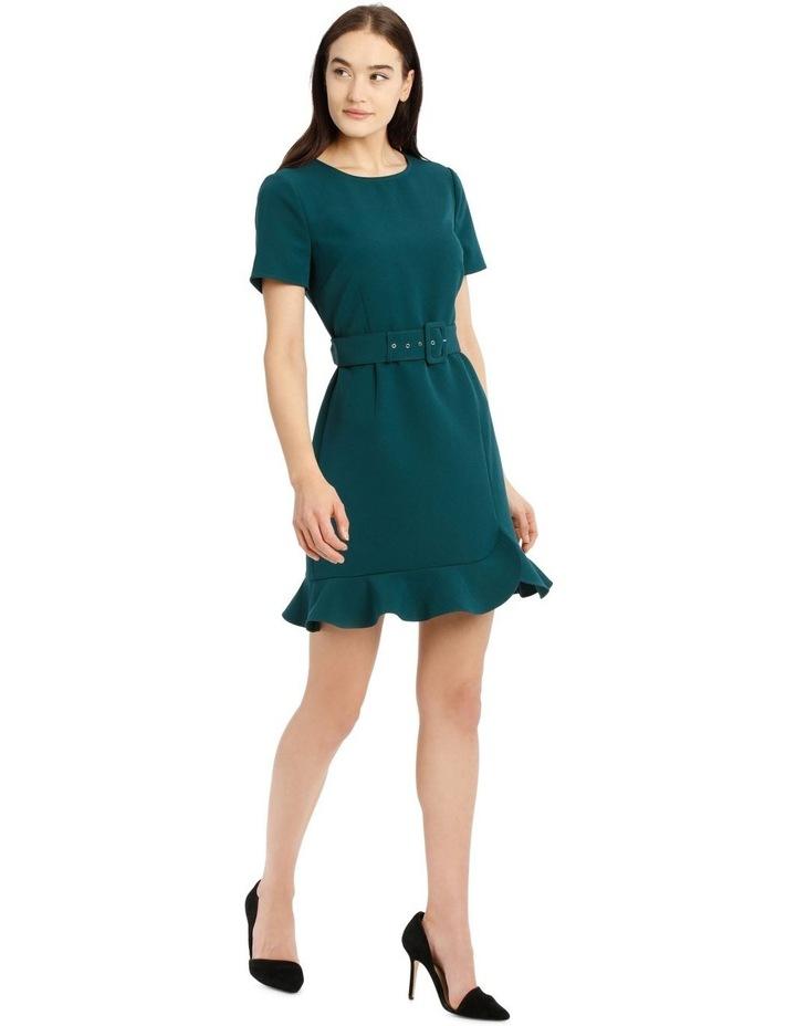 Belted Scuba Dress image 2