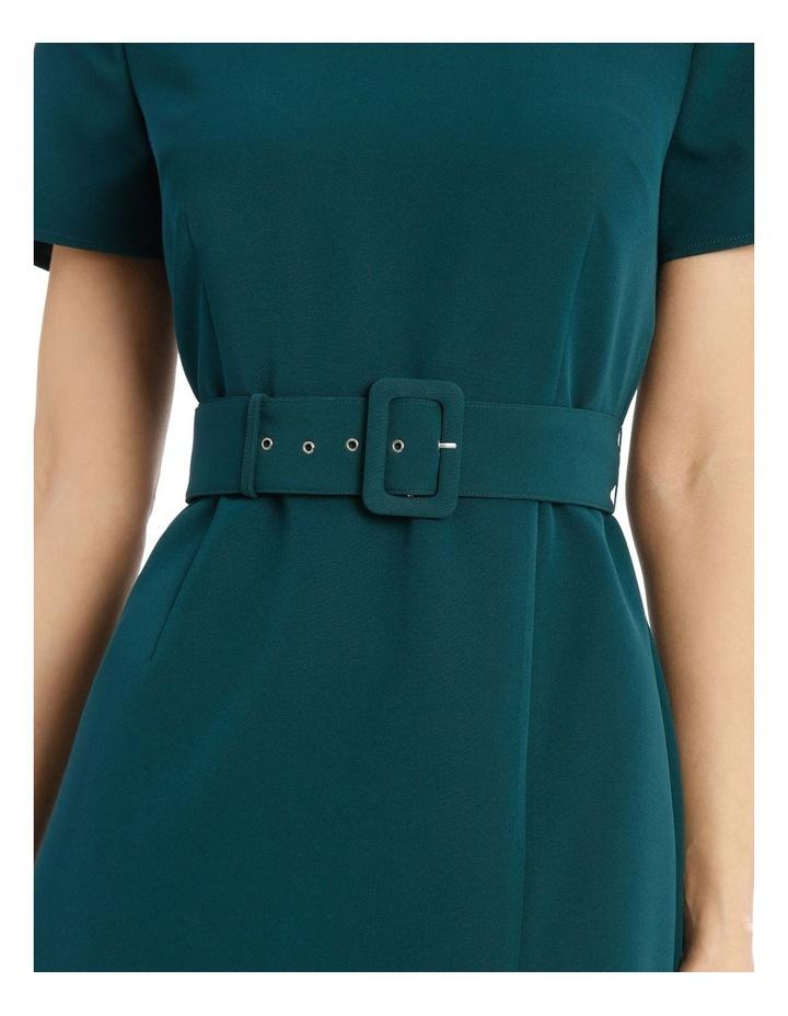 Belted Scuba Dress image 4