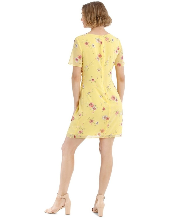Tie Front Chiffon Dress - Meadow Floral image 3