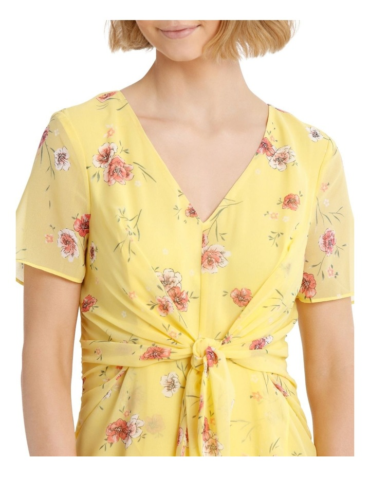Tie Front Chiffon Dress - Meadow Floral image 4