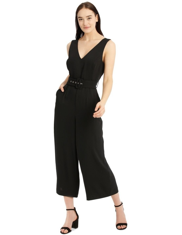 Belted Textured Jumpsuit image 1