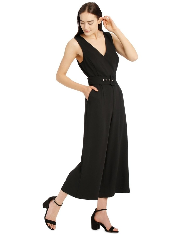 Belted Textured Jumpsuit image 2