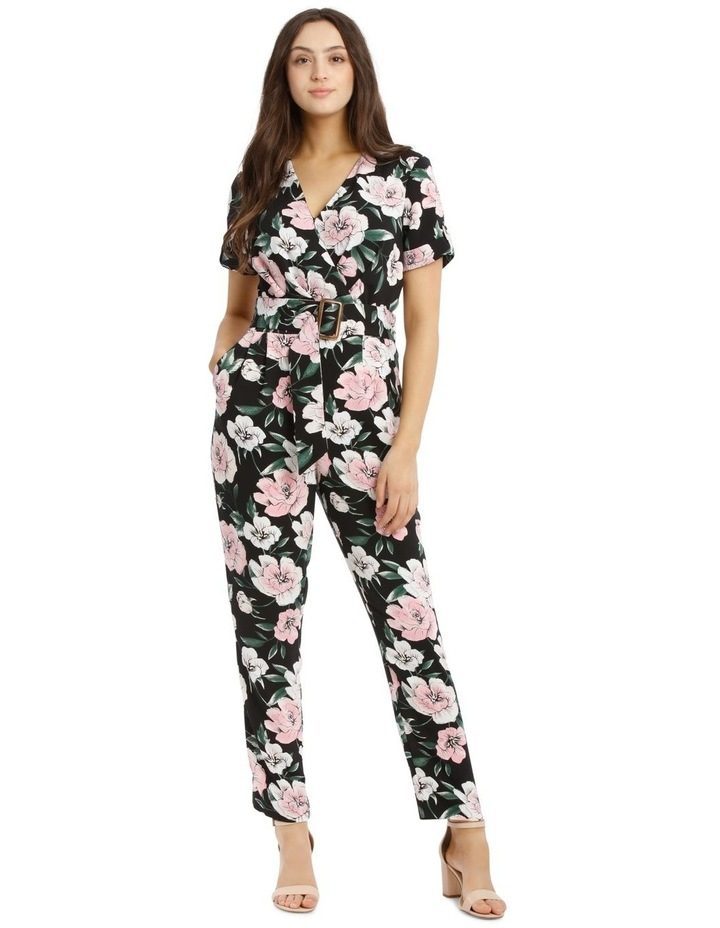 Belted Wrap Bodice Jumpsuit by Tokito