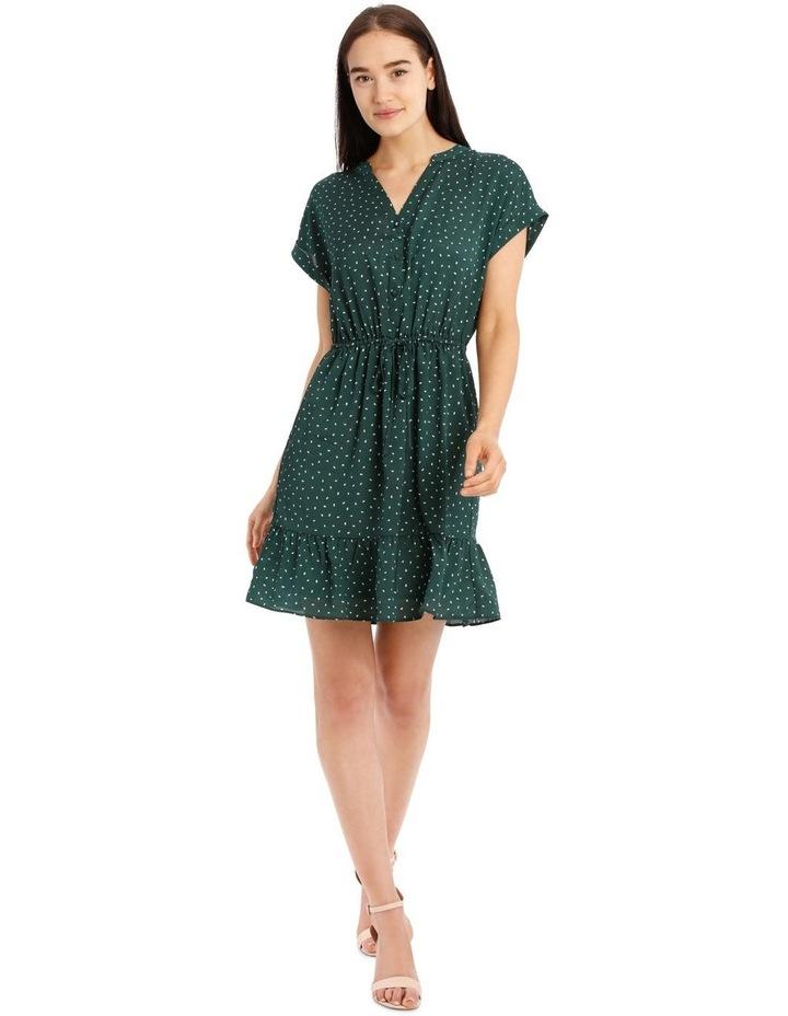 Frill Skirt Shirt Dress image 1