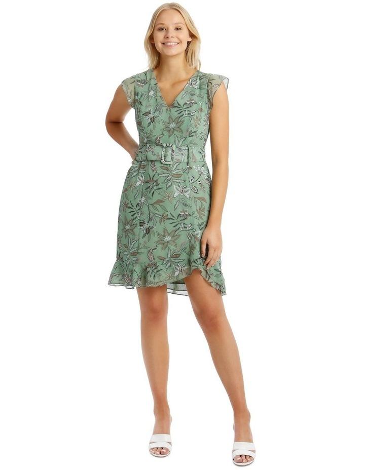 Belted Ruffle Dress image 1