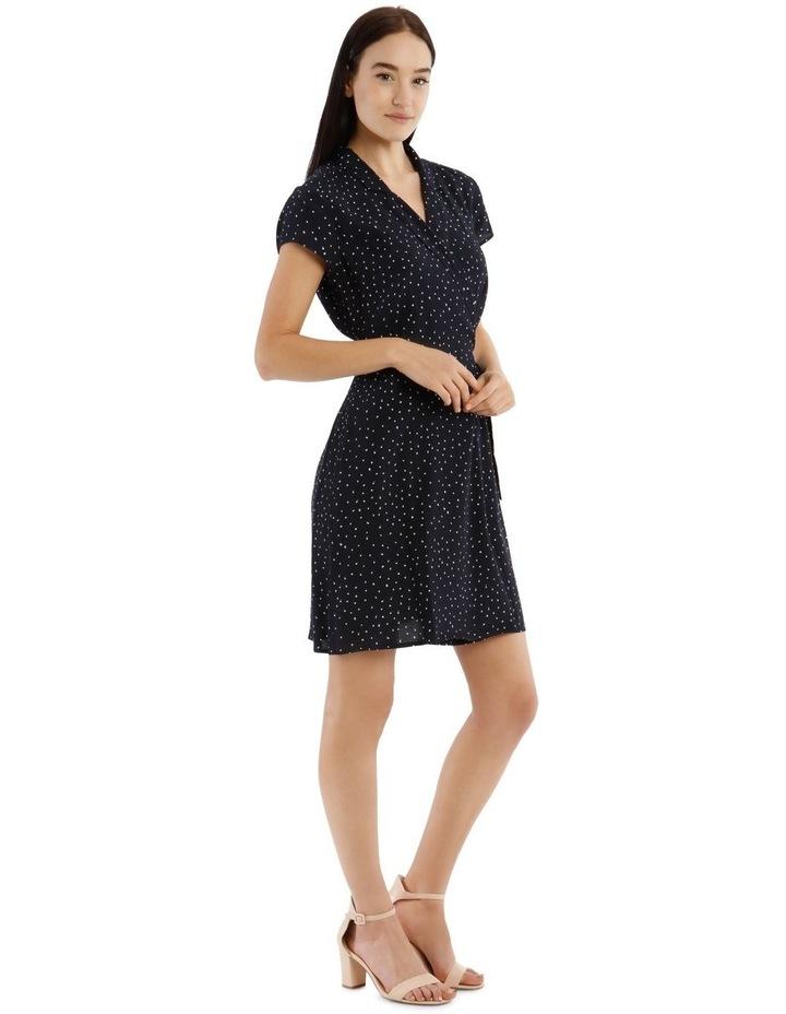 Shawl Collar Shirt Dress image 1