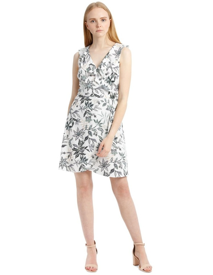 Sleeveless Paisley Linen Blend Dress image 1