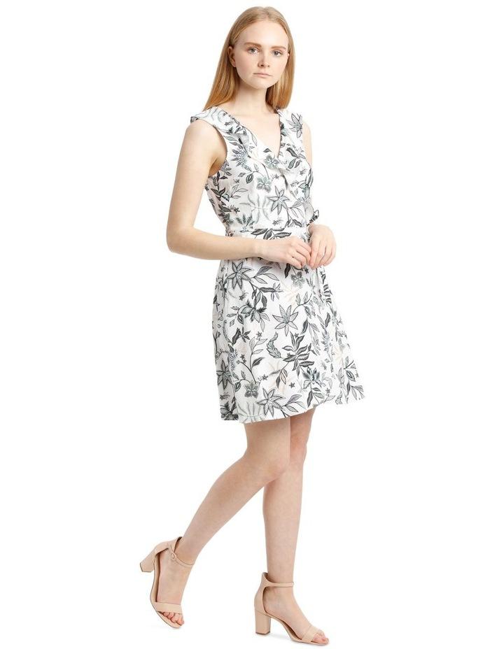 Sleeveless Paisley Linen Blend Dress image 2