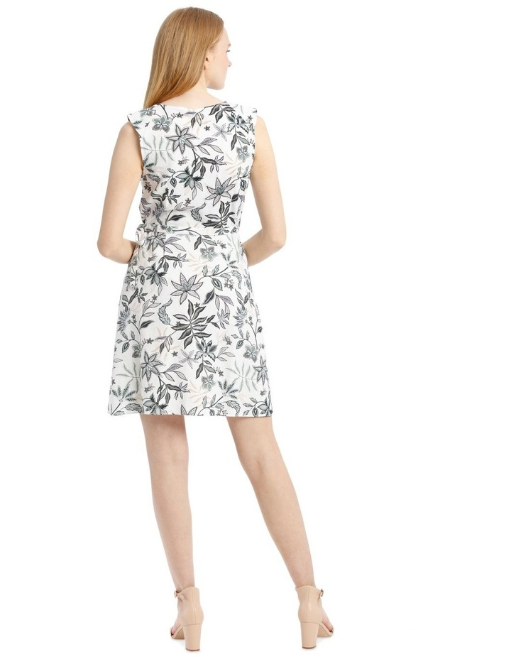 Sleeveless Paisley Linen Blend Dress image 3