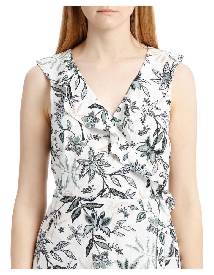 Sleeveless Paisley Linen Blend Dress image 4