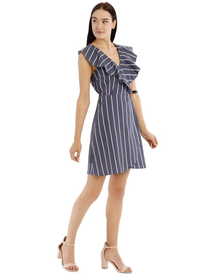 Sleeveless Striped Linen-Blend Dress image 2