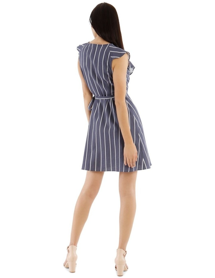 Sleeveless Striped Linen-Blend Dress image 3