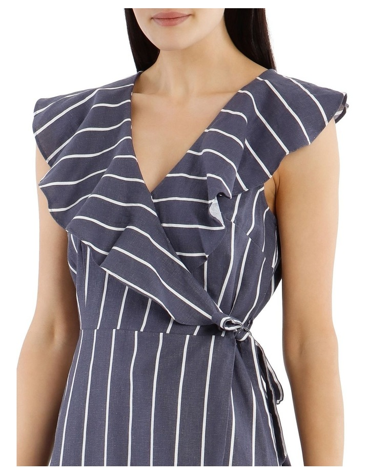 Sleeveless Striped Linen-Blend Dress image 4