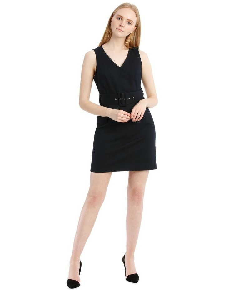 Navy Textured Pencil Dress image 1