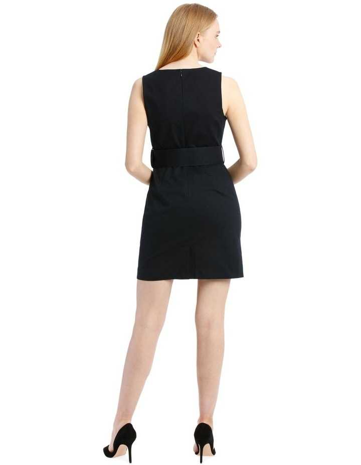 Navy Textured Pencil Dress image 3