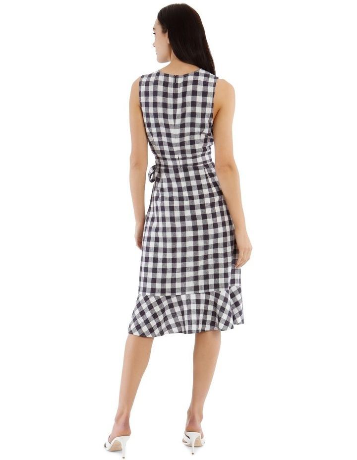 Linen Blend Wrap Midi Dress image 3