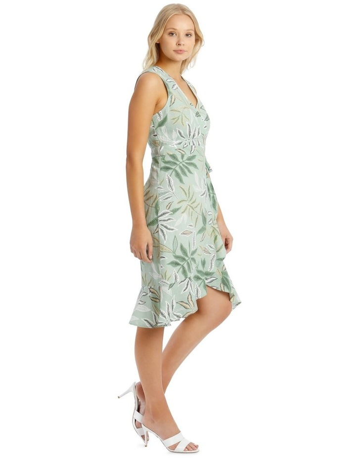 Linen Blend Wrap Midi Dress image 2