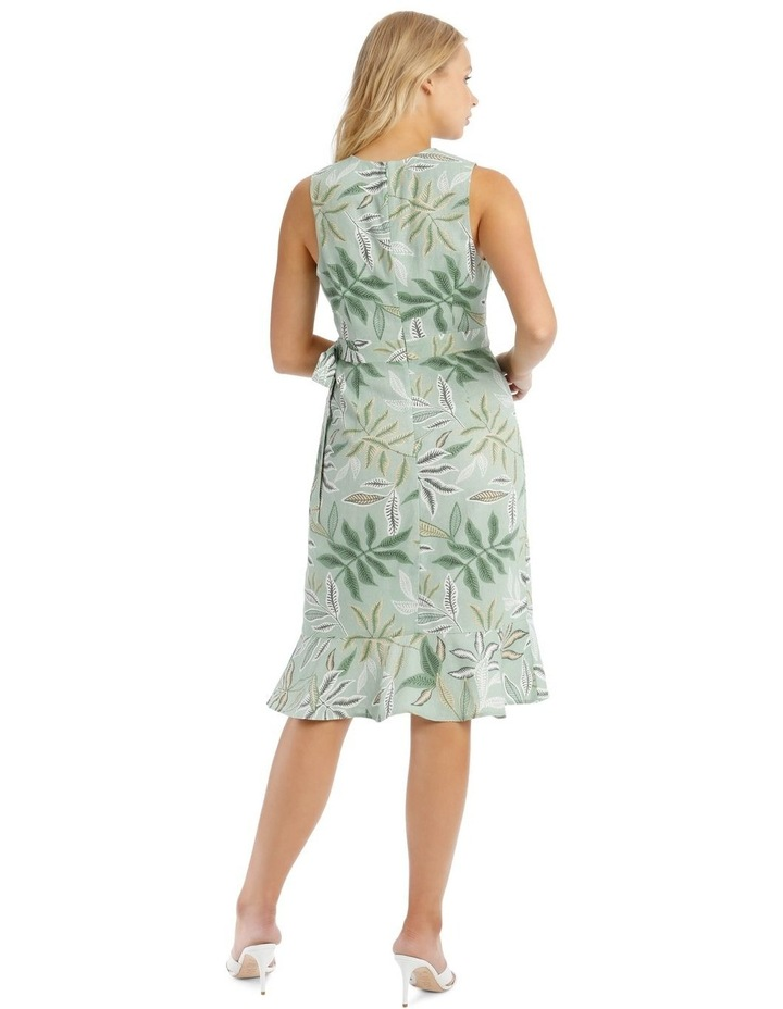Linen Blend Wrap Midi Dress image 3