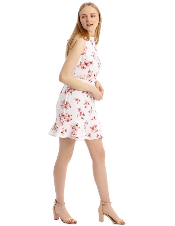 Scatter Bloom Tie Neck Flounce Dress image 2