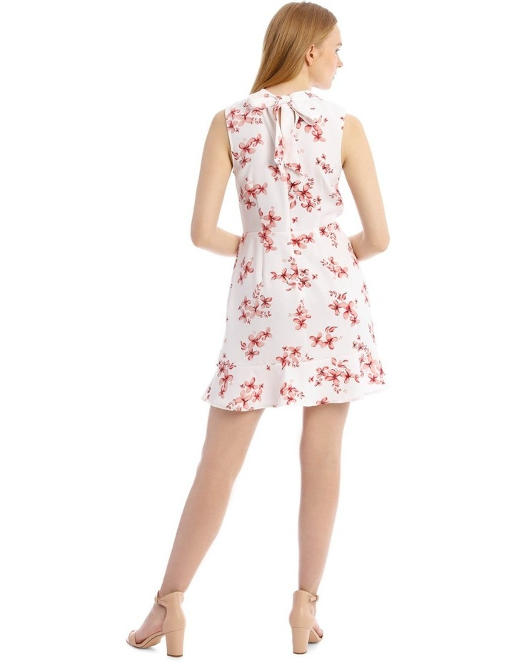 Scatter Bloom Tie Neck Flounce Dress image 3