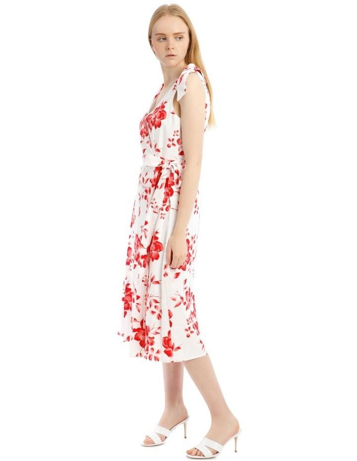Tie Shoulder Linen Blend Maxi Dress image 2