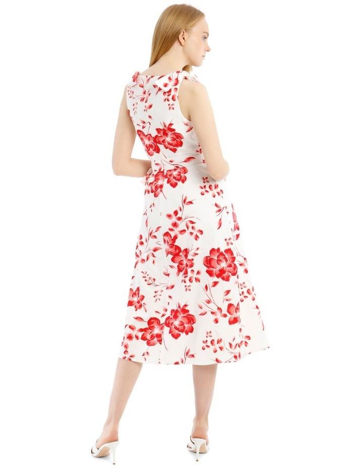 Tie Shoulder Linen Blend Maxi Dress image 3