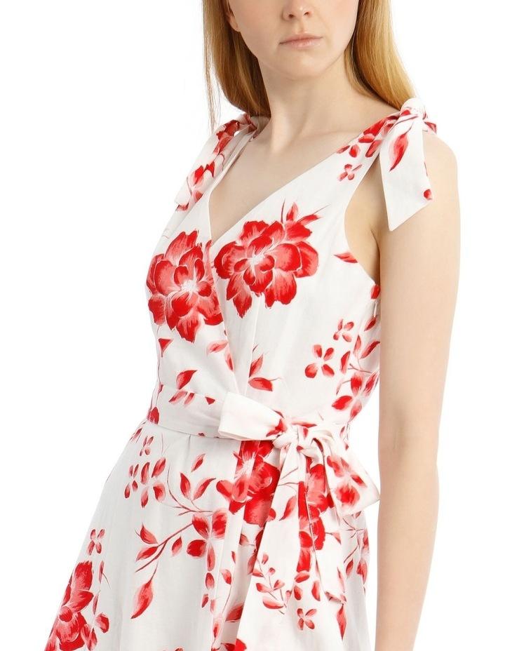 Tie Shoulder Linen Blend Maxi Dress image 4