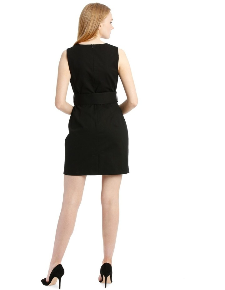 Black Textured Pencil Dress image 3