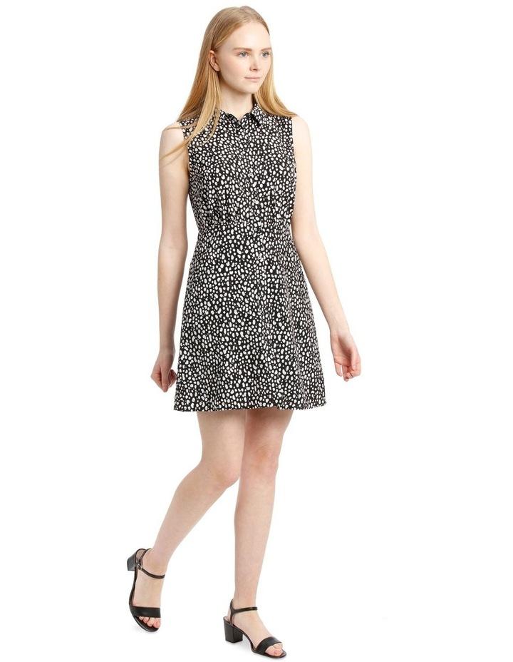 Sleeveless Skater Shirt Dress image 2