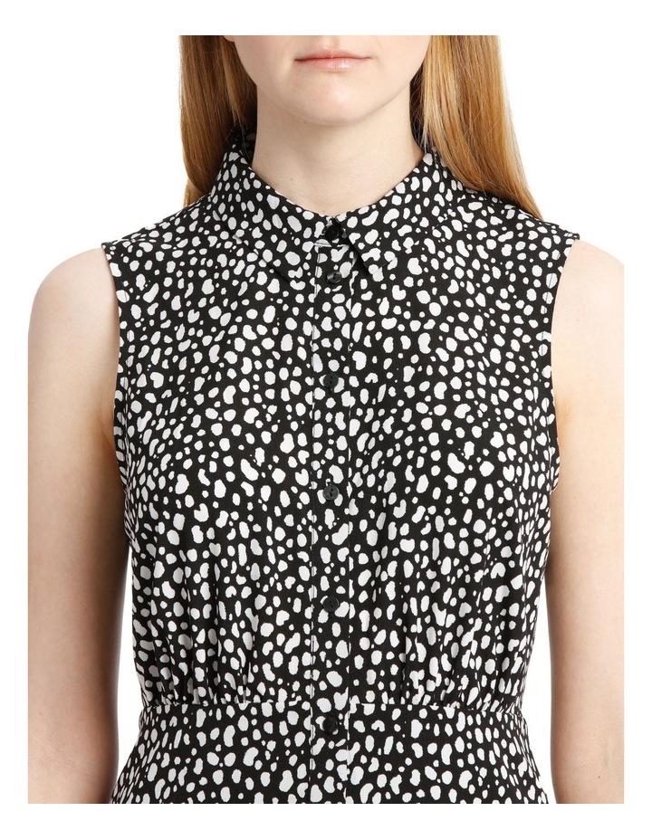 Sleeveless Skater Shirt Dress image 4