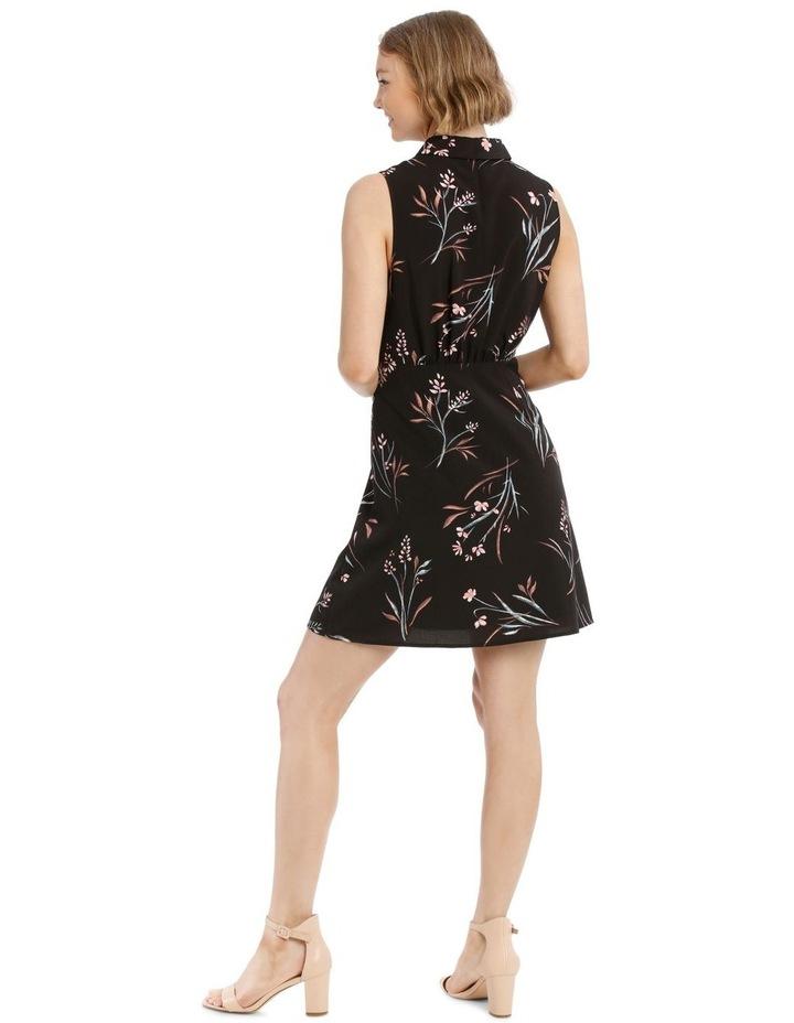 Sleeveless Skater Shirt Dress image 3