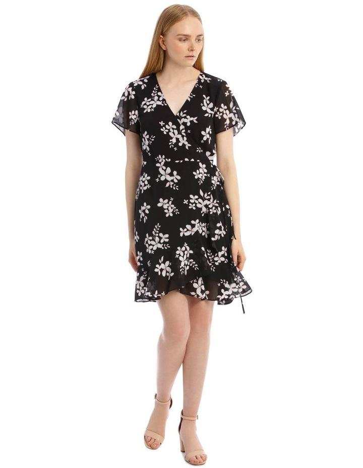 Scatter Bloom Frill Skirt Wrap Dress image 1