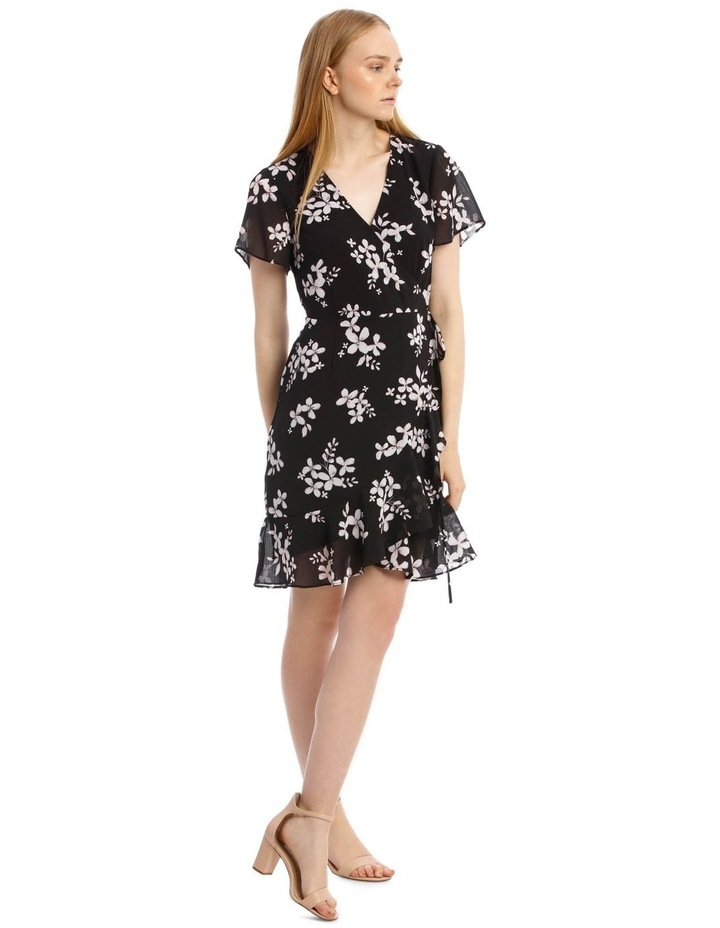 Scatter Bloom Frill Skirt Wrap Dress image 2