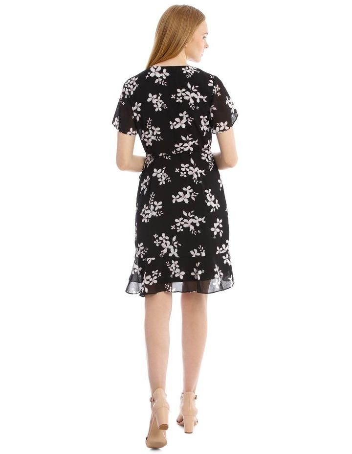Scatter Bloom Frill Skirt Wrap Dress image 3