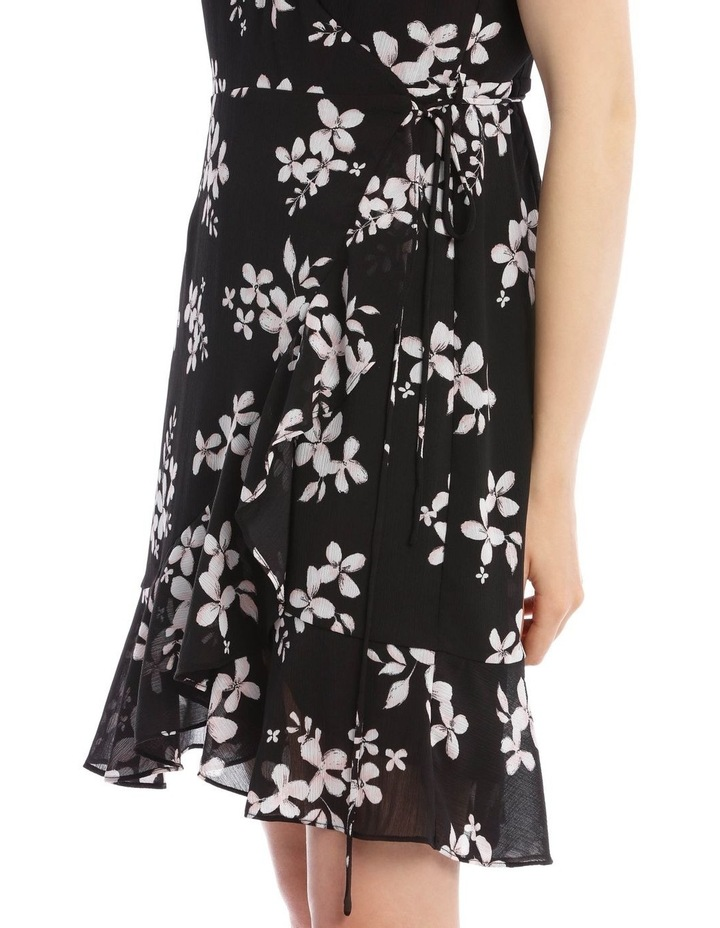 Scatter Bloom Frill Skirt Wrap Dress image 4