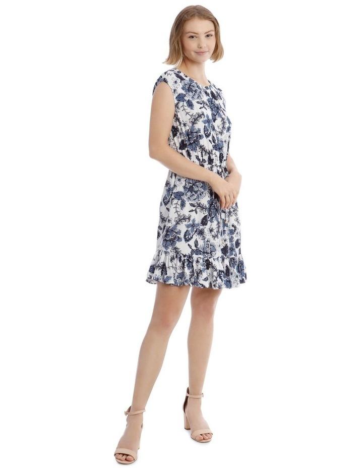 Printed Draw Waist Dress image 1