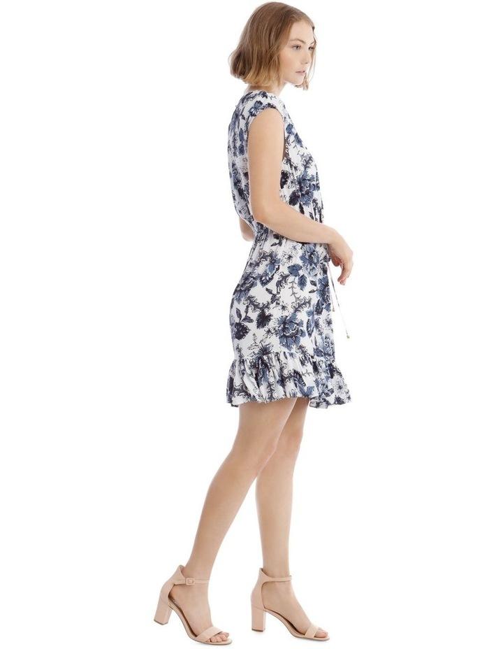 Printed Draw Waist Dress image 2