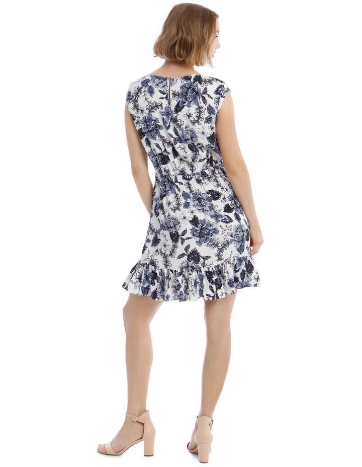 Printed Draw Waist Dress image 3