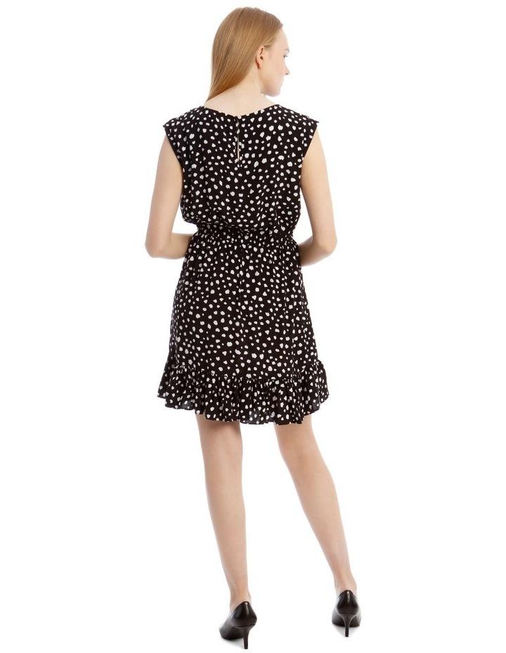 Random Spot Draw Waist Print Dress image 3
