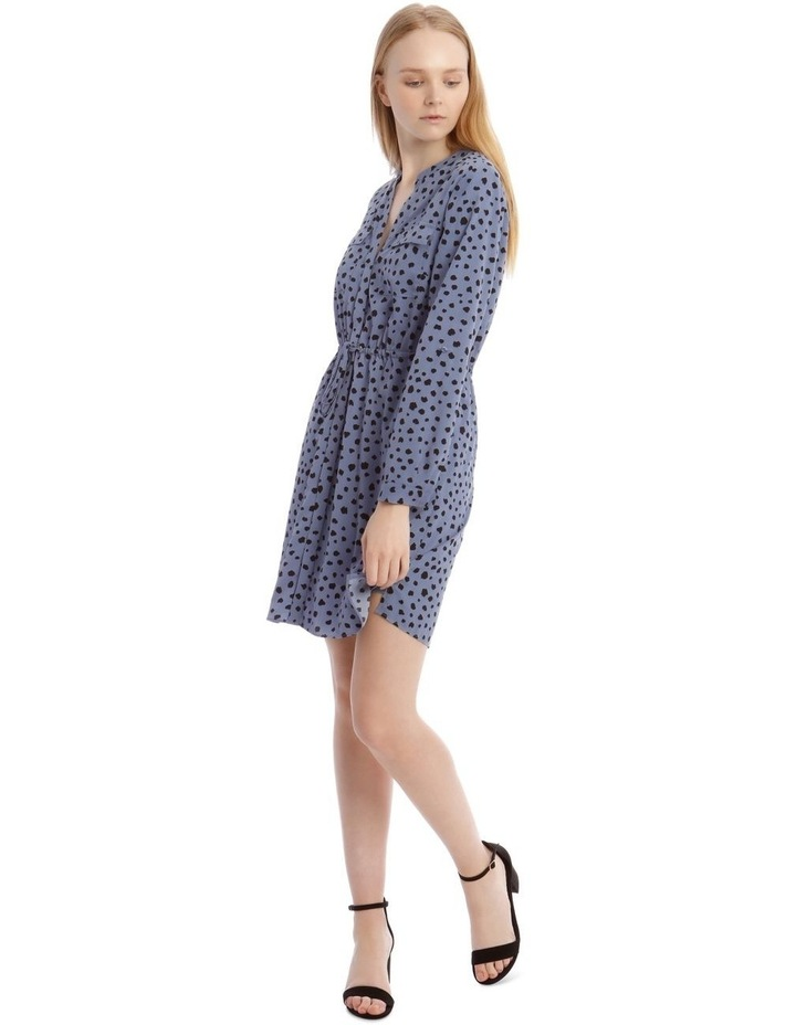 Random Spot Button Through Shirt Dress image 1
