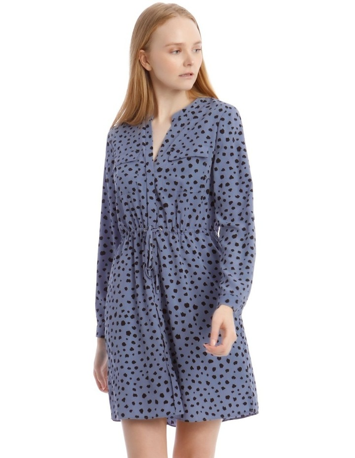 Random Spot Button Through Shirt Dress image 2