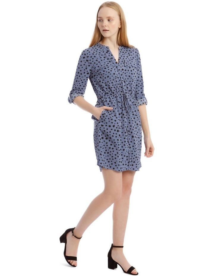 Random Spot Button Through Shirt Dress image 3