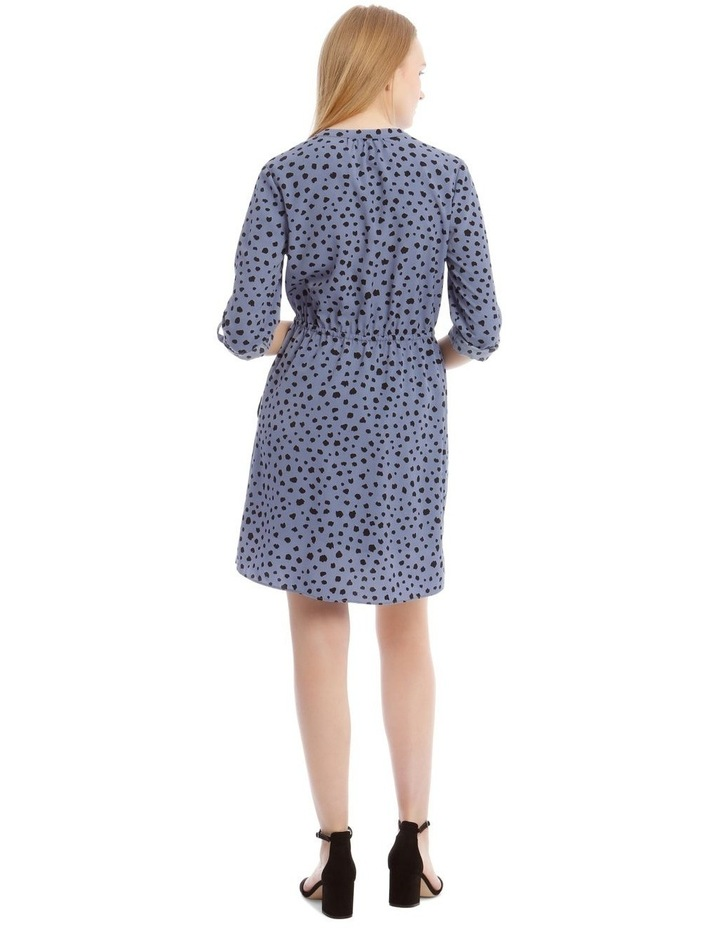 Random Spot Button Through Shirt Dress image 4