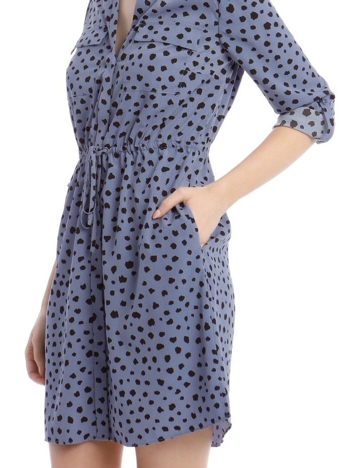 Random Spot Button Through Shirt Dress image 5