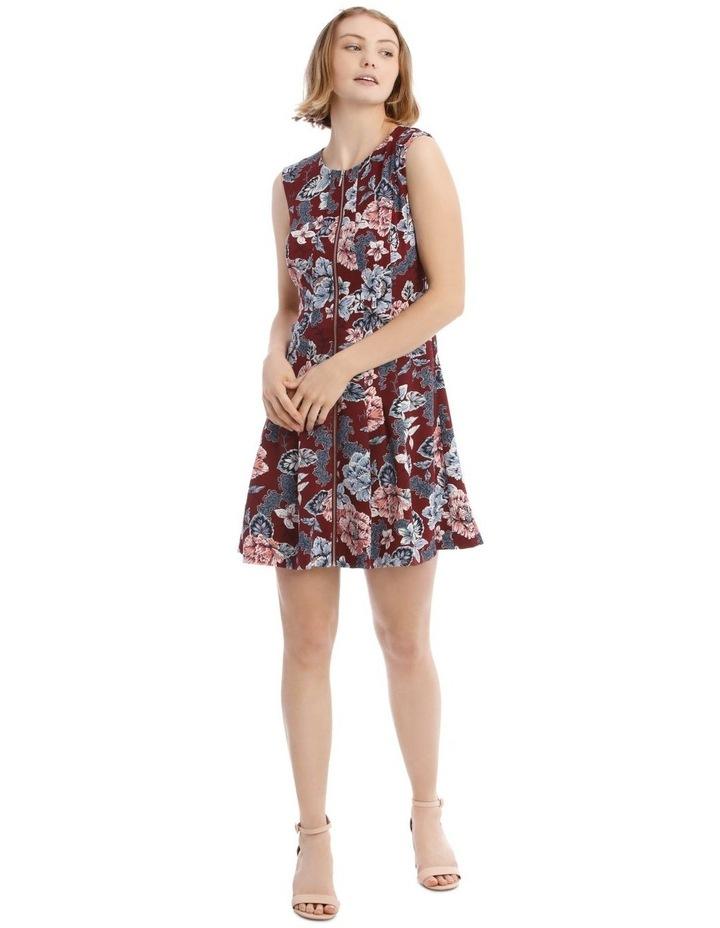 Flippy Floral Zip Front Dress image 1