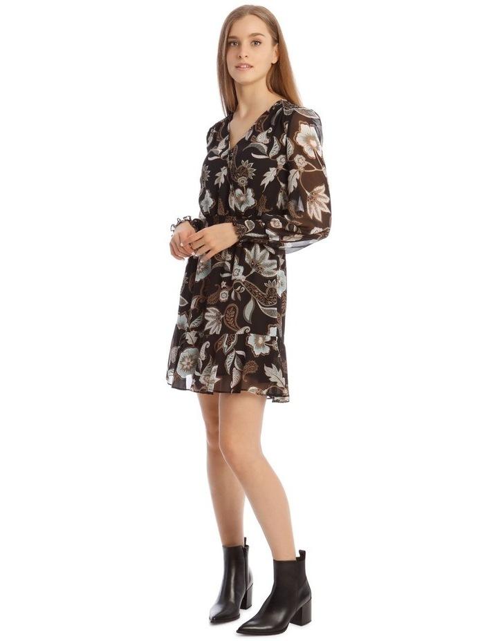 Long Sleeve Shirred Detail Dress image 1