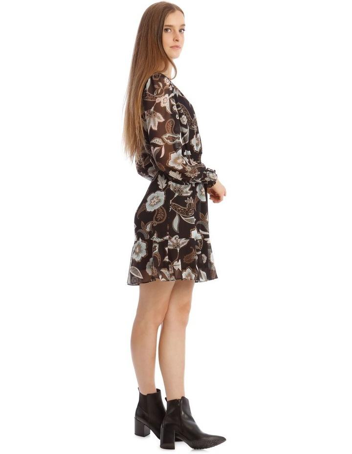 Long Sleeve Shirred Detail Dress image 2
